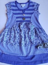 Naartjie Top 4 girl Lacey Drop short sleeve  shirt NEW blue