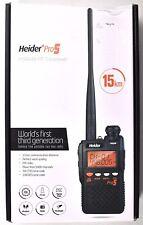 Heider Pro5 PMR446 FM Transceiver Two-Way Radio Walkie Talkie 15km >NEW<