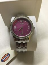 NIB Fossil St Steel Crystals Ladies Watch.. BQ3007