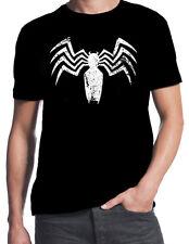 Venom Spiderman Arch Enemy Superhero Villain Distressed Logo Comic Book T Shirt
