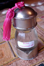 Moroccan rose essential oil 30 ml in Moroccan glass bottle and tassle