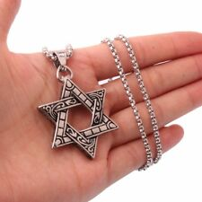 Unique Stainless  Star of David Necklace  Pendant Magen David 16 gr