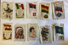 New listing Vtg Early 1900's Lot Tobacco Silks Nebo Cigarettes Country Flags 10 Indians