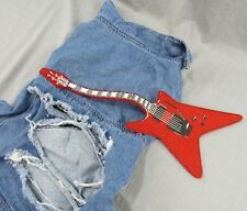 Rock 'n Roll Dog Shirt Denim Outfit L/XL Ugly Party Vest Jean Jacket Dogs Guitar