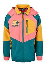 Starter Jacket Multi Colored Logo Jacket ST029 Green/Yellow/Pink
