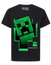 Minecraft T Shirt Boys Creeper Inside Black Short Sleeve Gamer Top