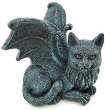 New! Winged Cat Gargoyle Pc Topper Computer Shelf Sitter Gato Figurine Gift 6323