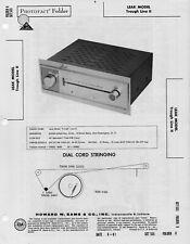 1961 LEAK TROUGH LINE II 2 FM TUNERRADIO SERVICE MANUAL PHOTOFACT SCHEMATIC FIX