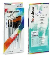 Liquidraw Artist Paint Brushes 7 Set Acrylic Oil Watercolour Painting Craft Art