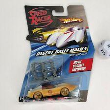 Hot Wheels Speed Racer Desert Rally Mach 5 W/Jump Jacks & Movie Booklet