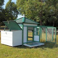 "77"" Waterproof Wood Wooden Rabbit Hutch Chicken Coop Hen House Poultry Pet Cage"
