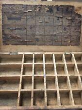 RARE Reel Parts Repair Wooden Box 1940's Shakespeare TRIUMP 1958 Antique Display