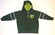 Carter's Green Football Boys Zip Up Hoodie Jacket Size 3T