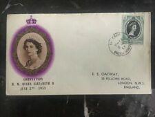 1953 British Honduras First Day Cover FDC QE II Queen Elizabeth coronation