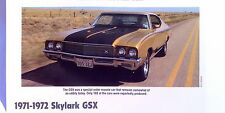 1971 1972 Buick Skylark GSX Gran Sport GSX 455 ci Stage 1 info/specs/photo 11x8