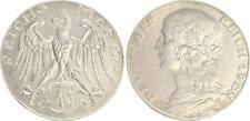WEIMAR 3 MARCO 1925 motivpr. en plata, O. mzz Cabaña CASTAÑO VS y RS diseño prfr