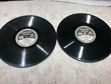 Vintage Pair Of Edison Records (Thick) 78 RPM Pre-Owned Good Condition
