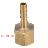 Brass Hose Tails 1/4 BSP Female to 6mm or 8mm Tube For Pressure Gauges Hoses