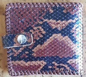 Genuine handmade crocodile skin bifold wallet