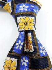Benjamin James Estampado Jacquard 100% Puro Corbata de Seda - Azul/ Marrón/