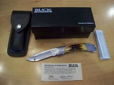 LIMITED EDITION BUCK KNIFE 500 DUKE~ATS-34 POLISHED BLADE / FINGER GROOVE HANDLE