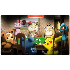 FREE SHIPPING Custom Pokemon Playmat Pikachu Pokemon Poker Play Mat