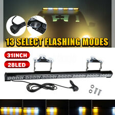 31'' INCH 28 LED Emergency Warning Flash Strobe Light Bar Traffic Suction Cup