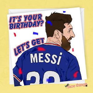 Messi Birthday Card, Lionel Messi Birthday Cards for Him, Football Birthday Card