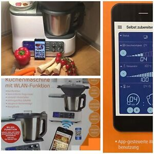 Quigg Küchenmaschine Koch u. Waagefunktion Dampfgaraufsatz Garkorb WLAN App 2020