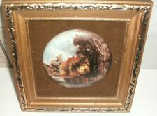 Valley Farm Constable Framed Ceramic Plaque Pot Lid Staffordshire