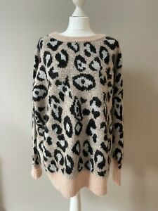 Chunky Soft Knit Animal Print Jumper Over-sized Zara New, Large