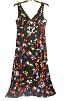 Jennifer Lopez Size XL Petite Maxi Floral Long Stretchy Dress Womens Sleeveless