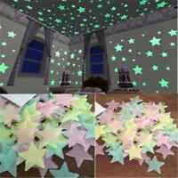 50pc 3D Glow in the Dark Stars Kids room Wall Stickers Fluorescent Wall Stickers