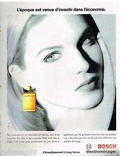 Publicité Advertising 1993 Le Lave Vaisselle Bosch