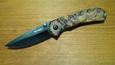 "TAC-FORCE 8"" Br Camo ASSISTED OPEN KNIFE Practical Tactical EDC BOB Outdoors NIB"