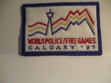 police patch   CALGARY 97 WORLD POLICE FIRE GAMES ALBERTA CANADA 2 1/2 BY 3 3/4