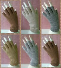 PERUVIAN LOT 20 PAIRS FINGERLESS GLOVES ALPACA WOOL KNITTED NATURAL COLORS!!