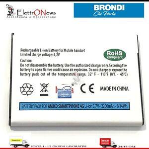 BATTERIA PER BRONDI AMICO SMARTPHONE 4G Batteria per amico smartphone 4G
