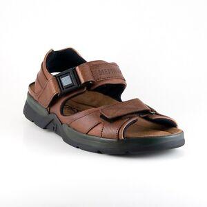 Mephisto Shark Fit Chestnut Waxy/ Tan Grain Comfort Sandal Mens 40-48 NEW!!!