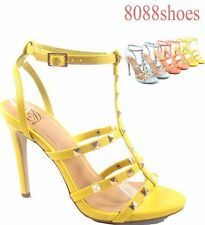 Women's Sexy Color Slingback High Heel Buckle Sandal Shoes Size 5.5  - 11 NEW