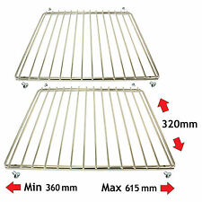 2 x Adjustable Extendable Rack Grill Shelves for CANDY DELONGHI Oven Cooker