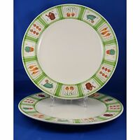 Mikasa Harvest Lane 2 Dinner Plate Green Trim Garden Veggie Theme More Pcs Avail