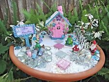 Mini Princess Fairy Garden Starter Set Kit Cottage House Sand Accessories #