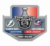 2020 STANLEY CUP NHL PLAYOFFS PIN 1ST FIRST ROUND LIGHTNING VS. BLUE JACKETS