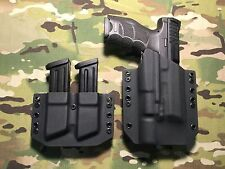 Black Kydex Holster for H&K HK VP9 Surefire X300 Ultra A w/Dual Mag Carrier