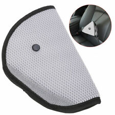 Comfortable Seat Belt Adjuster Car Child Safety Cover Harness GREY Triangle Pad