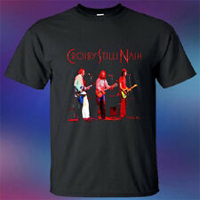 Crosby Stills Nash CSN Men's Black T-Shirt Size S to 3XL
