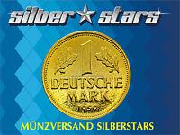 1 DM / Deutsche Mark 1950 - 1959  24 Karat vergoldet in Kapsel - Portofrei