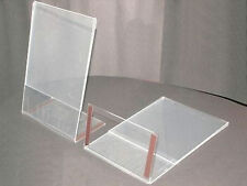 10 DIN A4 L Shape Stand Plexi Price Sign M.Magnet NEW Magnetic Magnetic Strips