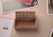 Wooden Rubber Number Stamp Kit - 12 pc Set Prices Wedding Stationery Cards